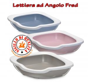 Lettiera Toilette ad Angolo per Gatti Fred Imac vari colori