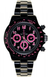TOYWATCH FLASH - BLACK AND PINK
