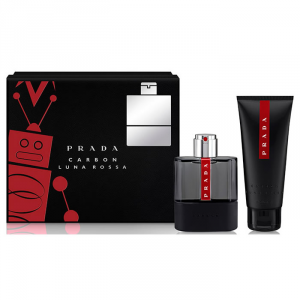 Prada Luna Rossa Carbon Eau De Toilette Spray 100ml Set 2 Parti 2017