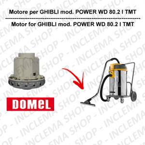 POWER WD 80.2 I TMT motor de aspiración DOMEL para aspiradora GHIBLI