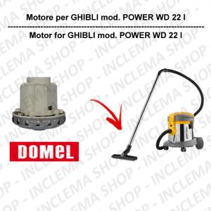 POWER WD 22 I motor de aspiración DOMEL para aspiradora GHIBLI