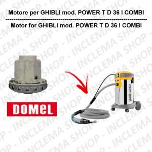 POWER T D 36 I COMBI motor de aspiración DOMEL para aspiradora GHIBLI
