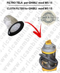 WS 15 Filtre Toile pour aspirateur GHIBLI