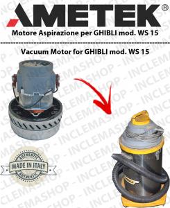 WS 15  Motore de aspiracion Ametek para aspiradora e aspiraliquidi GHIBLI