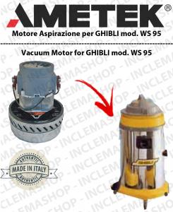 WS 95  Motore de aspiracion Ametek para aspiradora e aspiraliquidi GHIBLI