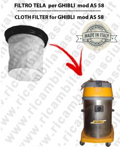 AS 58 Filtre Toile pour aspirateur GHIBLI