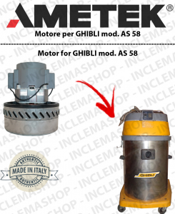 AS 58 motor de aspiración AMETEK  para aspiradora GHIBLI