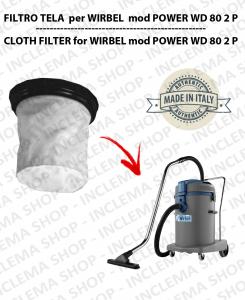 POWER WD 80 2 P Filtre Toile pour aspirateur WIRBEL