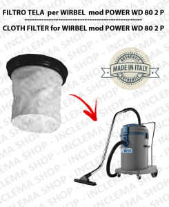 POWER WD 80.2 P Canvas Filter for vacuum cleaner WIRBEL