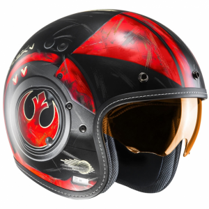 Casco jet HJC FG 70s Star Wars POE DAMERON MC1SF in fibra