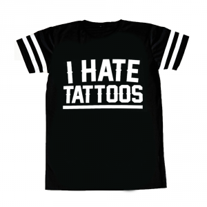T-shirt traforata Woman I HATE TATTOOS
