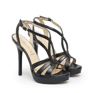 Sandalo con Tacco e Cinturini Multipli