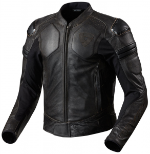 Giacca moto pelle Rev'it Akira Vintage marrone scuro