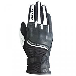 Guanti moto donna pelle-tessuto estivi Ixon RS Shine HP Nero Bianco