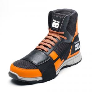 Scarpe moto Blauer HT01 nero arancio suola bianca