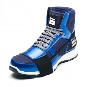 Scarpe moto Blauer HT01 blu scuro blu suola bianca