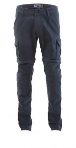 Pantaloni moto Pmj - Promo Jeans Santiago zip navy