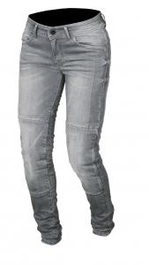Jeans moto donna Macna Jenny con rinforzi in Kevlar grigio