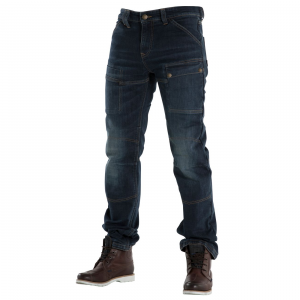 Jeans moto Overlap Sturgis Dirt con rinforzi in fibra Aramidica blu