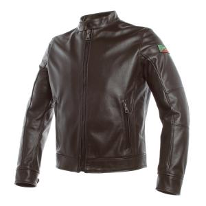 Giacca moto pelle Dainese AGV 1947 anniversario marrone scuro