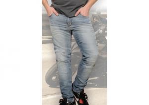 Jeans moto Motto ITALIA con rinforzi in fibra Aramidica blu chiaro