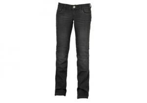 Jeans moto donna Motto KIRA X con rinforzi in fibra Aramidica grigio