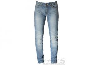 Jeans moto donna Motto STELLA con rinforzi in fibra Aramidica blu
