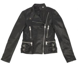 Giacca moto donna pelle Moto Guzzi Chiodo nero