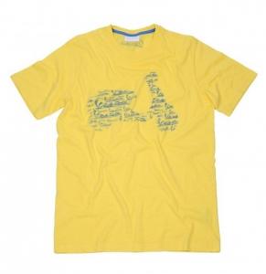 T-shirt Vespa Logo giallo stampa blu