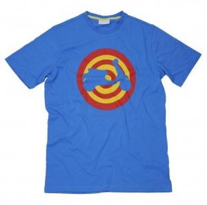 T-shirt Vespa Target blu royal