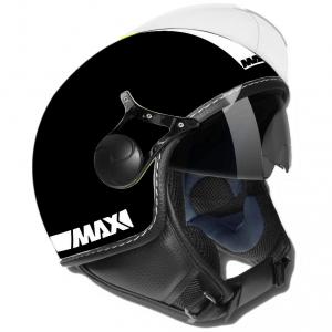 Casco jet Max Power Doppia Visiera nero