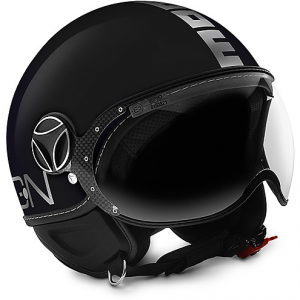 Casco jet Momo Design Fighter EVO Nero Cromato