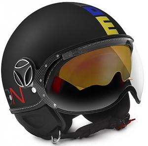 Casco jet Momo Design Fighter EVO Limited Edition Nero Multicolor Frost