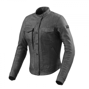 Giacca moto donna jeans estiva Rev'it Logan Ladies Nero