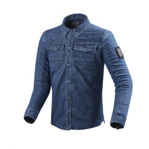 Camicia moto Rev'it Hudson ST Blu Medio Slavato