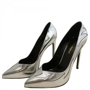 Scarpe Yve Saint Laurent argento.