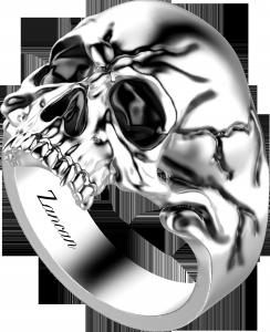 Anello uomo teschio  zancan argento