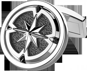 Gemelli argento bicolore zancan con rosa dei venti
