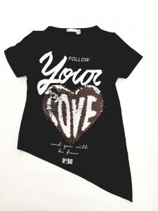 """Maxi maglia nera """"love"""""""