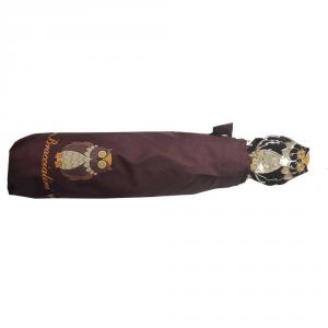 Braccialini - Ombrello mini marrone con stampa gufo cod. BC805/3