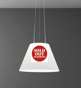 Lampadario QUEEN vetro bianco doppia luce | E27 R7s