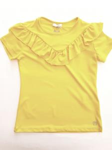 Maglia gialla con rouches da ragazza 8-16 anni