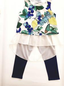 Completo floreale blu