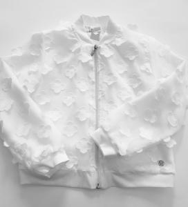 Giacca elegante bianca da bambina 3-7anni