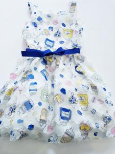 Vestito elegante da bambina 3-7 anni  con stampa a tema caramelle