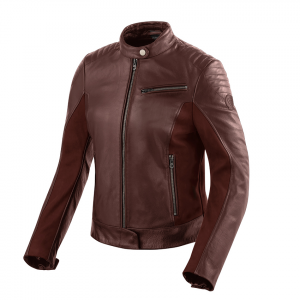 Giacca moto donna pelle Rev'it Clare Ladies Rosso