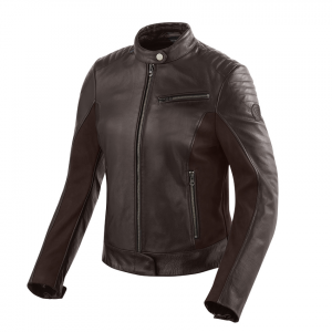 Giacca moto donna pelle Rev'it Clare Ladies Marrone Scuro