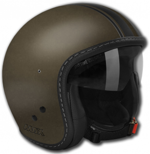 Casco jet Max Knight Verde scuro