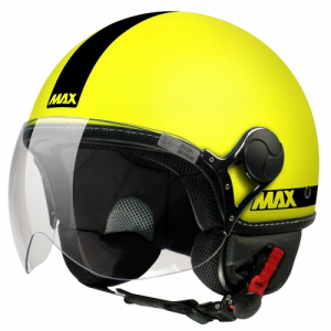 Casco jet Max Power Giallo
