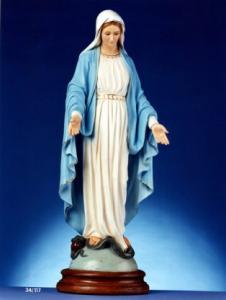 Statua Madonna  Immacolata Miracolosa cm. 117 occhi di cristallo decorata per esterni